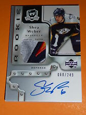06-07 The Cup SHEA WEBER Auto Rookie 4CLR PATCH 68/249 * SICK PATCH * RC