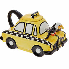 2x  JAMESON & TAILOR Design New York Yellow Taxi Big Ceramic Teapot Strange Zoo