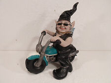 New Biker Babe Gnome Leather Vest Statue Lawn Yard Motorcycle Chick