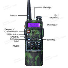 BaoFeng UV-5R UHF/VHF 2 way Radio Transceiver Walkie Talkie + 3800mah Battery GN