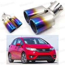 Car Exhaust Muffler Tip Tail Pipe End Trim Blue for Honda JAZZ 2015-2017 #2020