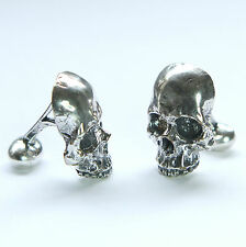 Silver Half Skull Cuff Links Keith Richards Style Cuff Links Pirate Human 246