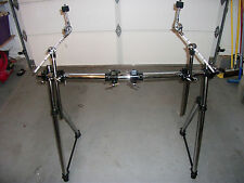 NEW Heavy Duty Chrome Drum/Hardware/Cymbal Rack w/Clamps & (2) Cymbal Boom Arms.
