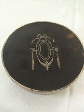 Fine Quality Silver Trinket Box (1918) With Tortoiseshell Lid,and Silver Pique