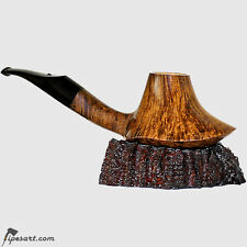 STUNNING SMOOTH VOLCANO SMOKING PIPE WITH PIPE STAND BY MASTER BOHEMIA