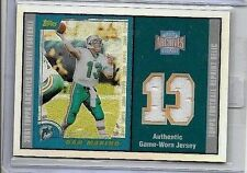 DAN MARINO 2001 TOPPS ARCHIVES  RESERVE DUAL GAME USED JERSEYS