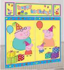 Peppa Pig Scene Setter Birthday Party Decoration 5 banners to make a 6ft display