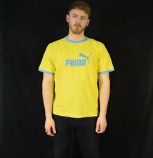 Large Yellow Vintage 90's Puma T Shirt
