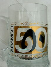 Vintage Crystal Mug Pint Aramco's 50th Anniversary 1988 Unique Historical Item