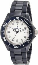 New Men's Invicta 1183 White Dial Black Ceramic Watch