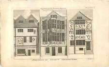 1787 Ancient Shop Fronts Dealers In Foreign Spirit Liquors  Old Engraving