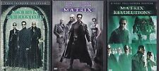 MATRIX, MATRIX RELOADED, MATRIX REVOLUTIONS TRILOGY Complete 5 dvd