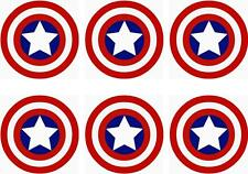 6 X CAPTAIN AMERICA MINNIE/SMALL IRON ON T SHIRT TRANSFERS LIGHT/WHITE FABRICS