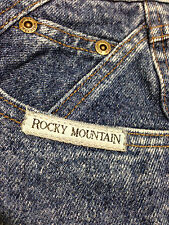"""Rocky Mountain Blue Jeans  Tapered leg  Button up fly excellent 29"""" X 30"""""""