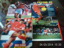 nottingham forest football pictures x4 pearce van hooijdonk clough