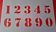Schablonen Zahlen 1-0 Wandtattoo Vintage- Look Stanzschablonen Shabby Keilrahmen