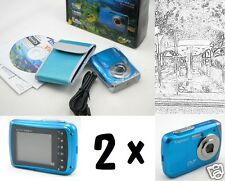 TWO Underwater Digital Cameras bargain, 3m waterproof video and special effects