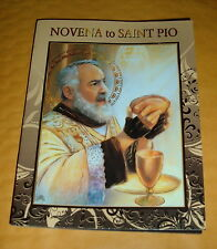 NOVENA TO SAINT PADRE PIO  Booklet  Catholic NEW Franciscan  Pamphlet Pics