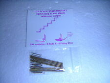 DOLLS HOUSE ( brass metal stair rods