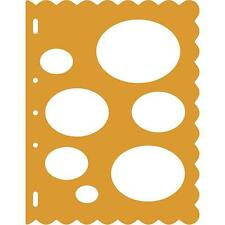 Fiskars 7 Oval Bubble Sizes Large Card Making Stencil Template Shapecutter Craft