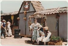 Vintage 70s PHOTO Young People In Costumes At Renaissance Fair