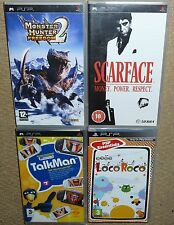 JOB LOT 4 x SONY PSP GAMES UMD Boxed Monster Hunter 2 Scarface Loco Roco TalkMan