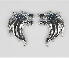 New 1Pcs Metal Emblem Car Truck Motor 3D Wolf Head Logo Sticker