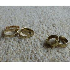 New H&M Ring Set Multiple Gold Flat Midi Rings S/M Jewellery Stacking Ring Above