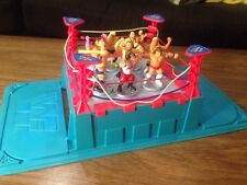 WWE WWF Mini Hasbro Wrestlers And Ring Royal Rumble