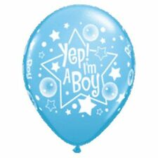 "10 pc 11"" Yep I'm a Boy Latex Balloon Party Decoration Baby Shower Welcome Blue"