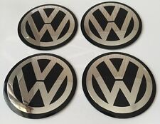 4 lots 90mm VW ALUMINIUM Wheel Centre Caps Badge GOLF PASSAT
