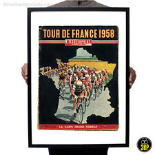 Grand tour de france 1958 magazine cover art vintage cyclisme velo poster print