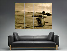 Fishing Rod Canne à Pêche Sport  Wall Art Poster Grand format A0 Large Print