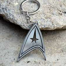Movie Star Trek Duplex Logo Silver Keychain Pendant Car Keychains Jewelry Gifts