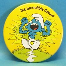 Schlumpf Button : 5,5cm Hefti  The incredible Smurf