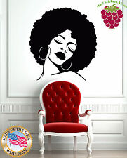 Wall Stickers Vinyl Decal Fashion Black Lady Hot Sexy Hair Spa  Salon z596