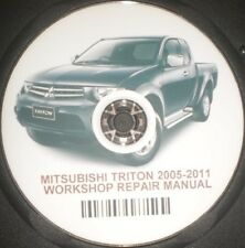 Mitsubishi /  Triton 2005--2011 Repair Service Workshop Manual On CD