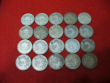 LOT OF 20 1947  CANADA HALF DOLLAR SILVER COINS 50 CENT PIECES   NICE GRADES