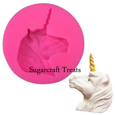 Unicorn Silicone Mould Cup Cake Decorating Topper Chocolate Sugarcraft