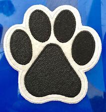 Hundepfote Aufnäher / Aufbügler patch Abzeichen Bügelbild Pfote Hund Tatze Tier