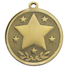 ATTENDANCE STAR METAL MEDALS GOLD SILVER BRONZE FREE RIBBON & FREE P&P AM1026.12
