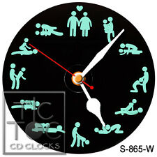 S-865-W CD CLOCK-SEX POSITIONS-WALL OR DESK CLOCK-BUY IT NOW-FREE SHIPPING
