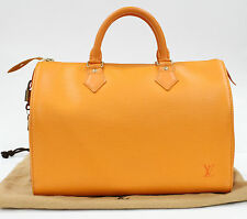 Pre Loved RARE Speedy 30 Epi Mandarin Orange LV Bag Louis Vuitton