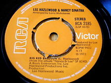 "LEE HAZLEWOOD & NANCY SINATRA - BIG RED BALLOON   7"" VINYL"