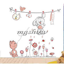 Cat Animals Kids Room Wall Decal Art Baby Stickers Mural Home Vinyl Removable