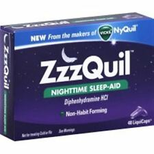 ZzzQuil Nighttime Sleep-Aid LiquiCaps 48 LiquiCaps (Pack of 6)