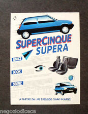 O397 - Advertising Pubblicità -1985- RENAULT SUPERCINQUE SUPERA