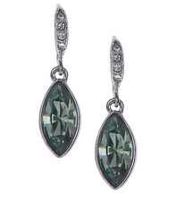 GIVENCHY Black Diamond-Crystal Hematite-Tone Marquise Drop Earrings