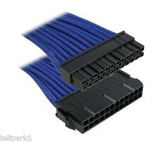 BitFenix Alchemy MultiSleeved ATX 24-pin 1 ft (30cm) Cable Extension, Blue/blk
