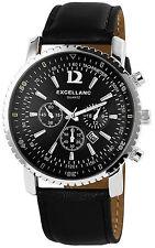 Excellanc Retro schwarze Flieger Armbanduhr analoge Herrenuhr mit Datumsanzeige